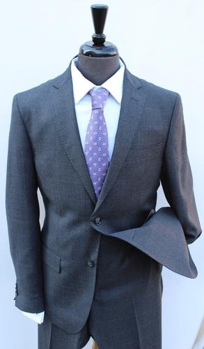 Stylish Charc Gray  Slim Fit Flannel Suit By Galante