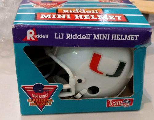 University of Miami Signed Mini Football Helmet