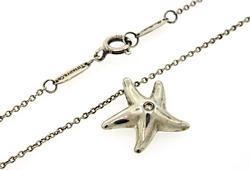 Tiffany & Co Starfish Pendant Necklace with Diamond