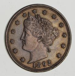 1892 Liberty V Nickel, Nice Color