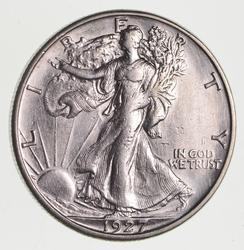 1927-S Walking Liberty Half Dollar, circulated