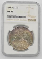 1901-O Morgan Silver Dollar - NGC MS65