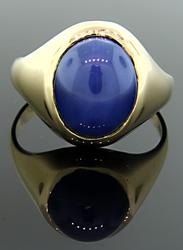 Lindy Star Sapphire ring in Yellow Gold
