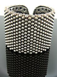 Lagos Caviar Wide Bead Cuff Bracelet