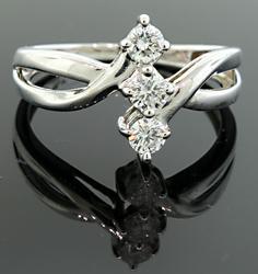 Diamond Trio Bypass Ring