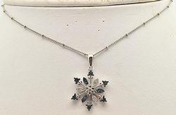Snowflake pendant in 14k white gold