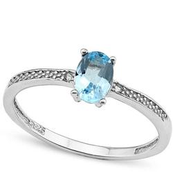 Sterling Silver Blue Topaz Ring