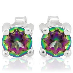 Mystic Gemstone Stud Earrings