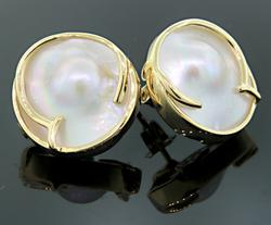 Mabe Pearl Stud Earrings
