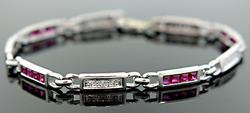 Ruby & Diamond Station Bracelet