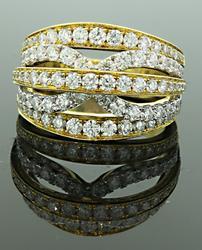 Designer Diamond Paloma Band in 18K