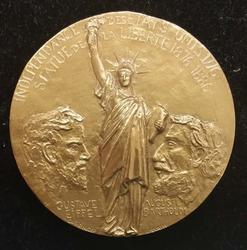 Paris Mint Statue Of Liberty Bronze Medal