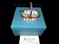 Rochard limoges basket hand painted porcelain