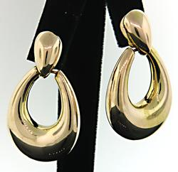 Door Knocker Earrings in Yellow Gold