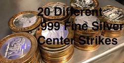 20 .999 Fine Silver Center - Casino Token $10.00