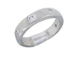 Platinum .30CTW Diamond Band