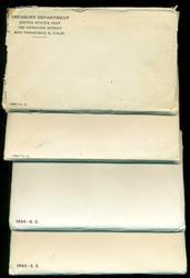 Run of 4 US Mint Sets in Original Envelopes: 1962-1965