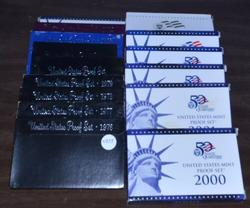 15 Different US Proof Sets: 1976-2007