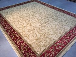 Allover Solid Inlay Pattern Area Rug 8x10