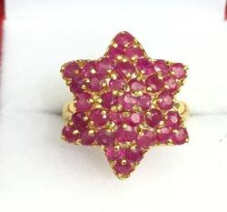 Natural Ruby and 14kt Gold Cocktail Ring