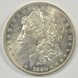 Nice BU 1880-O Morgan Silver Dollar. Better date