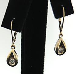 Chic Diamond Dangle Earrings