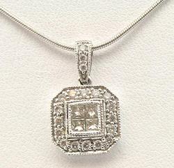 Diamond Accented Ladies 14kt Gold Pendant