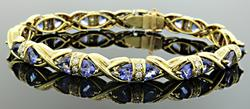 Exceptional Tanzanite & Diamond Bracelet at 10.43 CTW