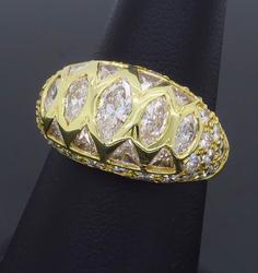 18K Gold JB Star 3.36CTW Diamond Ring