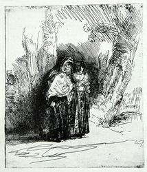 Vintage Rembrandt, The Spanish Gypsy