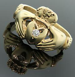 Claddagh Diamond Ring