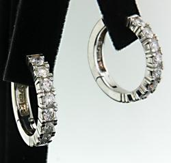 2.0 CTW Diamond Hoop Earrings