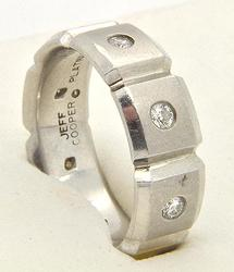 'JEFF COOPER' DIAMOND PLATINUM BAND.