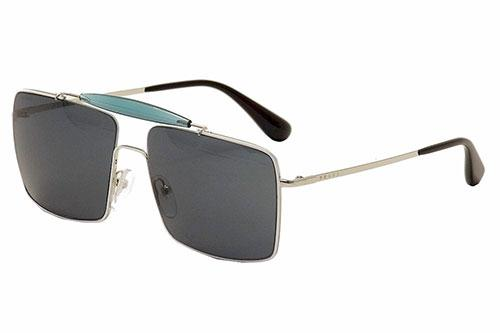 Prada Mens Turq and Silver Sunglasses, New