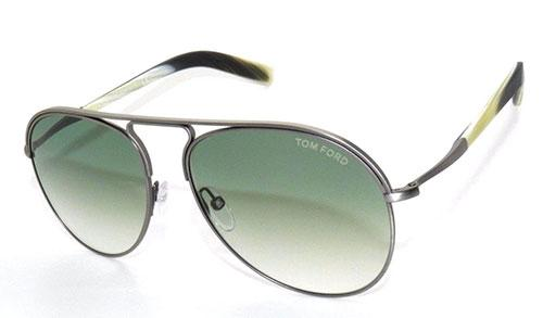 New Tom Ford Gunmetal and Polished Horn Aviators