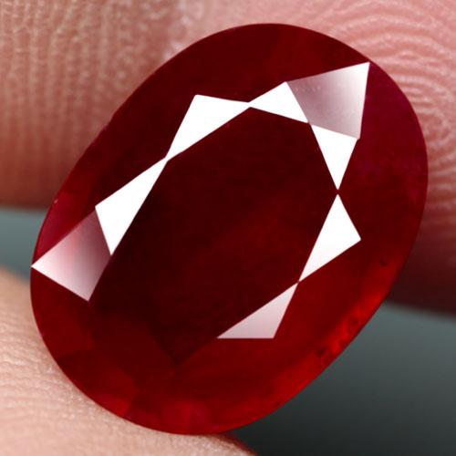Incredible 9.03ct oval cut blood red Ruby