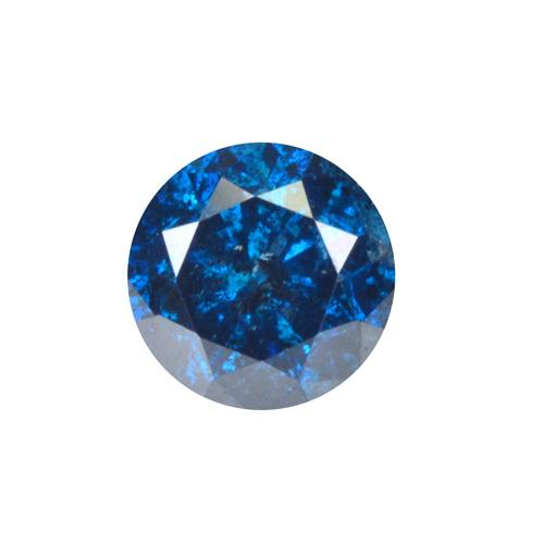Richly colored .25ct Blue Diamond solitaire