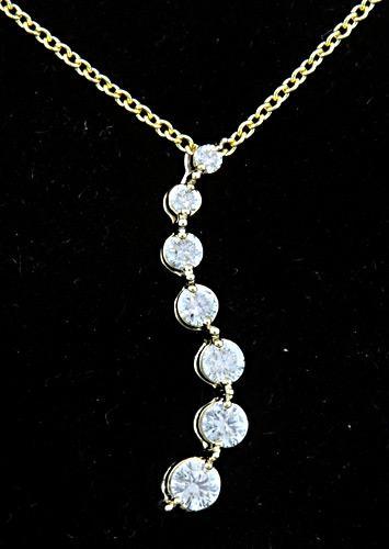 Diamond Journey Pendant Necklace