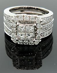 Multi Diamond Bridal Set