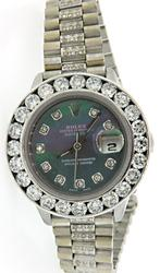 Ladies Rolex Date Just with Diamonds