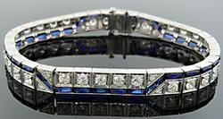 Sapphire & Diamond Bracelet 10 CTW