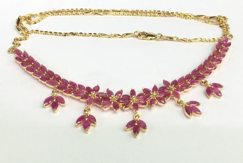 Gorgeous Ruby and 14kt Gold Necklace