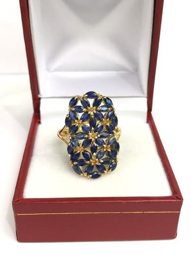 14kt Gold & Sapphire Cocktail Ring