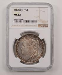 1878-CC Morgan Silver Dollar - NGC MS65