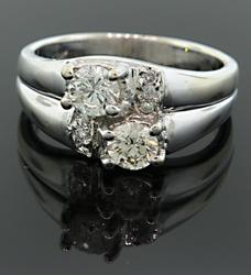Bypass Style Diamond Band in 18K