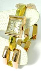 Mid-Century Vintage Rose & Yellow Gold Watch