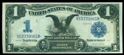 Crisp 1899 Series Large Size $1 Black Eagle Silver Cert
