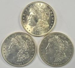 Great 1921 P-D-S Morgan Silver Dollars