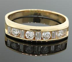 CHARMING CHANNEL SET DIAMOND BAND