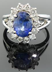 Stunning Sapphire & Diamond Ring at 4.55 CTW
